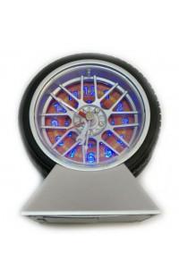 Часы колесо будильник настольные Колесо 10см.