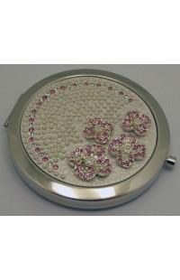 Декоративное зеркальце с эмалью Донна Диа Цветы, DD026