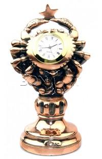 Часы декоративные ЗНАК ЗОДИАКА  РАК  высота 16 см, 76T1137
