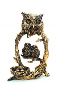 Статуэтка декоративная Совы в гнезде.