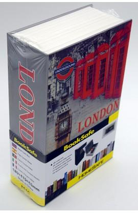 Книжка сейф металлическая с цифровым замком Лондон 17см, A1200201