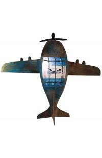 Декоративные часы АЭРОПЛАН, высота 100см