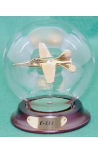 Шар стеклянный Трубкозуб F111 100 мм в золоте, AM160G