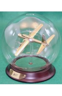 Шар стеклянный B17 Летающая крепость в золоте 100 мм, AM163G