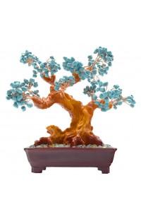 Дерево счастья Бирюзовые цветы BITREE25 высота 25см