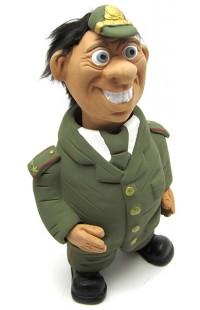 Фигурка релаксатор обожженая глина ручная работа серия Персонажи Военный
