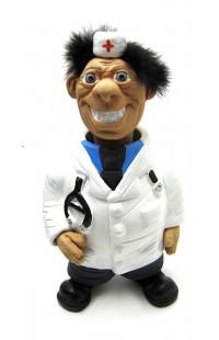 Фигурка релаксатор обожженая глина ручная работа серия Персонажи Доктор