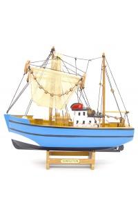 Декоративная модель РЫБАЦКАЯ ШХУНА, 28 см, BOAT26BLUE
