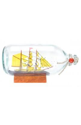 Стеклянная бутылка БРИГАНТИНА высота 10 см, BOOTLE19