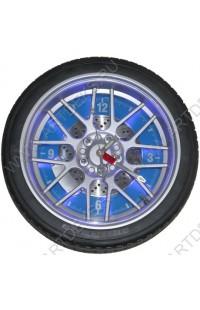 Часы колесо на стену Колесо 35см с подсветкой.