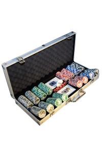 Набор для покера Профессионал 400 с номиналами в алюминиевом кейсе