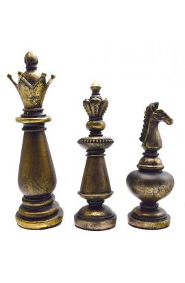 Декоративные шахматные фигуры 3шт, CHESSPI40