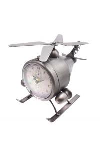 Декоративная композиция Вертолёт с часами высота 19 см, COPTERCL19