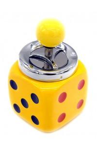 Пепельница оригинальная с элементом открывания желтая Зарик 15см, DL0083
