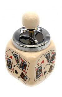 Пепельница оригинальная с элементом открывания  Колода куб 15см, DL0084