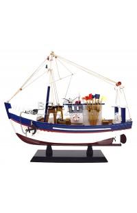 Декоративная модель рыбацкого баркаса FBOAT33 высота 33см