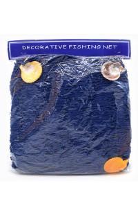 Декоративная рыбацкая сеть 1 метр синяя