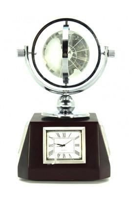Часы-барометр Стеклянный глобус высота 17см, GLOBAR17