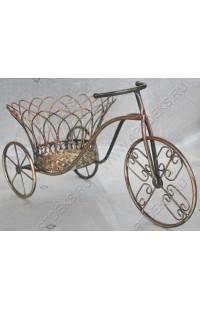 Подставка для цветов из ротанга в металле Велосипед.