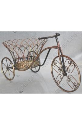 Подставка для цветов из ротанга в металле Велосипед, HD38479