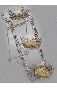 Подставка для зонтов из ротанга в металле.