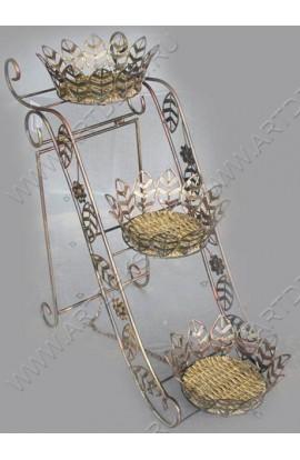 Подставка для зонтов из ротанга в металле, HD38489