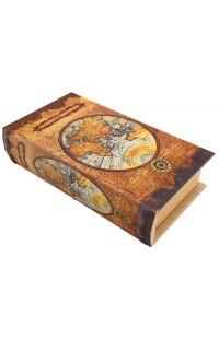 Шкатулка в виде книги для денежных знаков Старая карта мира