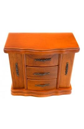 Шкатулка деревянная для украшений с дверцами и ящичками, JL083
