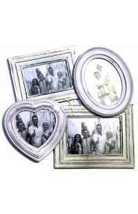 Фоторамка настенная со стеклом ретро стиль Дружная семья, JP1568