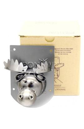 Настенная открывалка Зубастый лось с магнитами, JX10038