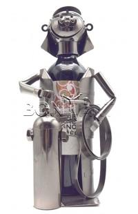 Держатель для винной бутылки из металла немецкий дизайн МЧС : Предотвращение, Спасение, Помощь