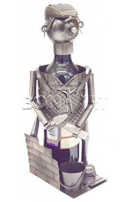 Держатель для винной бутылки из металла немецкий дизайн Насяльника ПРИВЕТ, JX10313