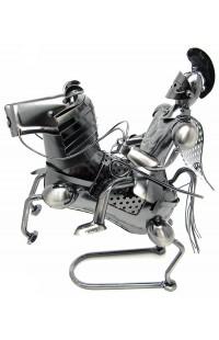 Композиция декоративная из металла немецкий дизайн Всадник, JX19465