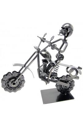 Композиция декоративная из металла немецкий дизайн Байкер, JX6166