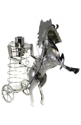 Держатель для винной бутылки из металла немецкий дизайн Колесница, JX8445