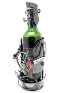 Держатель для винной бутылки из металла немецкий дизайн Капитан, JX9228