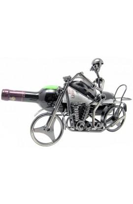 Держатель для винной бутылки из металла немецкий дизайн Байкер, JX9743