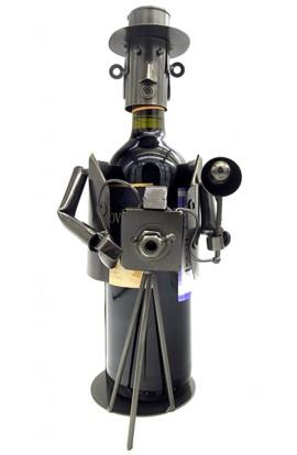 Подставка для бутылки металлическая Старый фотограф, JX9944