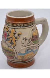 Пивная кружка керамическая коллекционная Люксембург.