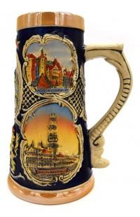 Пивная кружка керамическая коллекционная Бавария.