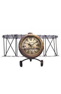 Декоративные часы САМОЛЕТ высота 17 см, M009A