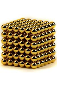 Магнитный скульптор релаксатор Нео куб золото шарики 4см.