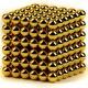 Магнитный скульптор релаксатор Нео куб золото шарики 4см, N35G
