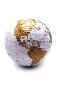 Глобус Земли золотистый поворотный