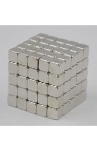Магнитный скульптор релаксатор Нео куб серебро кубики 5см.