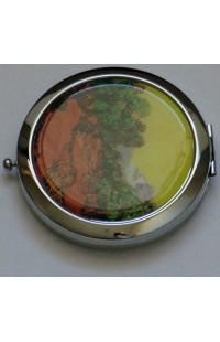 Декоративное зеркальце с эмалью Донна Диа Сад.