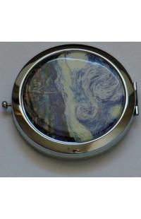 Декоративное зеркальце с эмалью Донна Диа Облака.