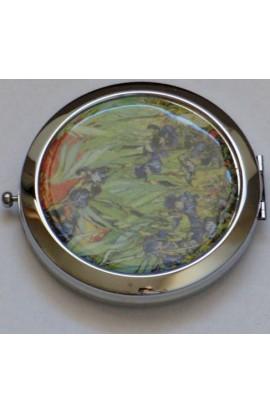 Декоративное зеркальце с эмалью Донна Диа Цветы, DD014
