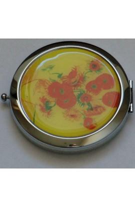 Декоративное зеркальце с эмалью Донна Диа Цветы, DD012