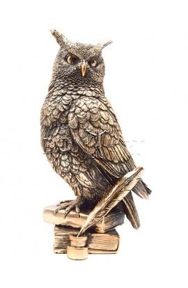 Фигурка декоративная Сова на книгах высота 24 см, OWL24